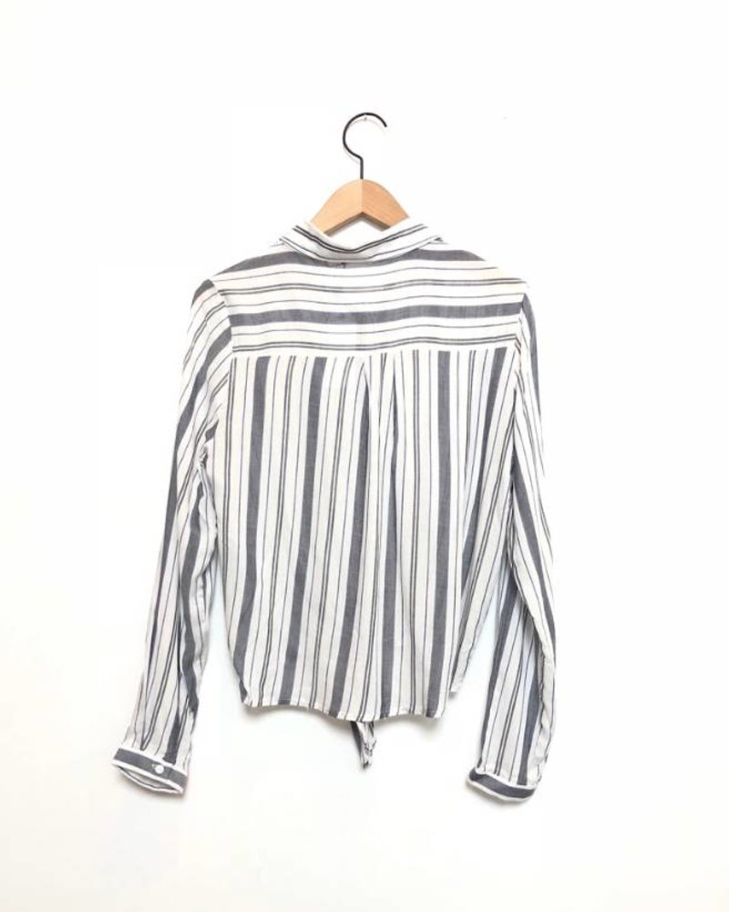 SIERRA STRIPED KNOT FRONT TOP