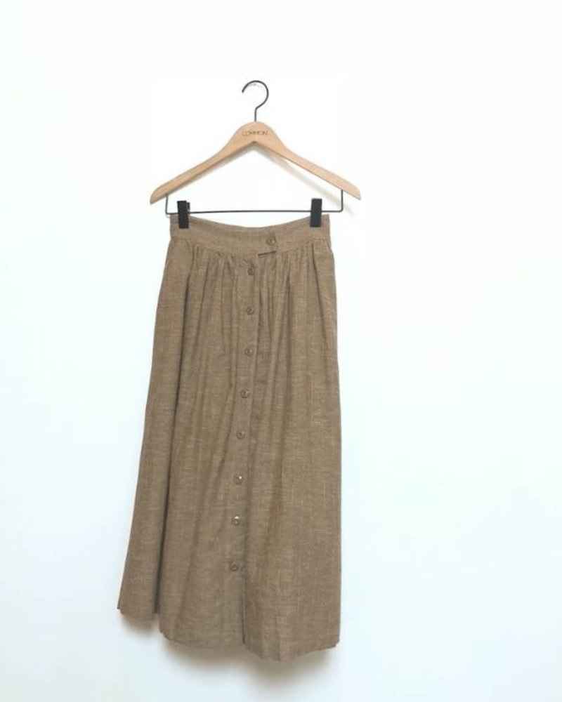 SAWYER MIDI SKIRT BROWN