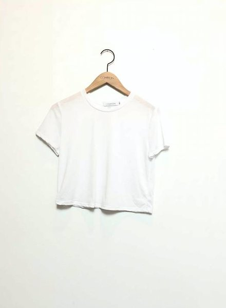 VAL CROPPED TEE WHITE