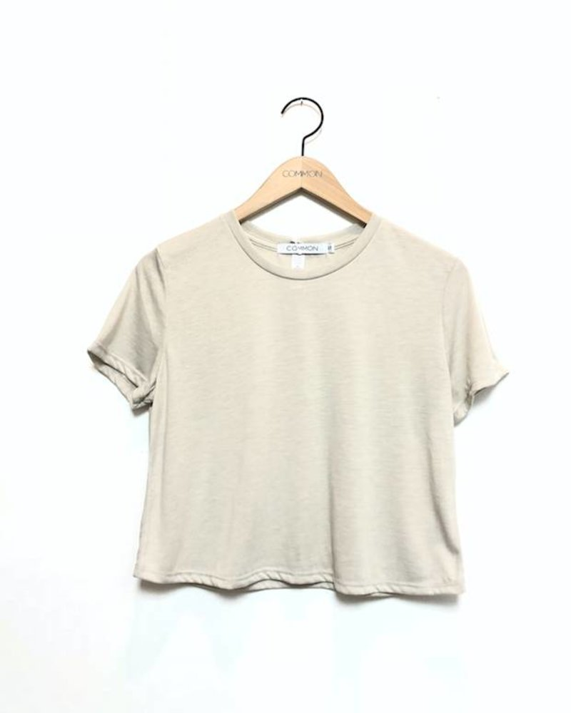 VAL CROPPED TEE CREAM