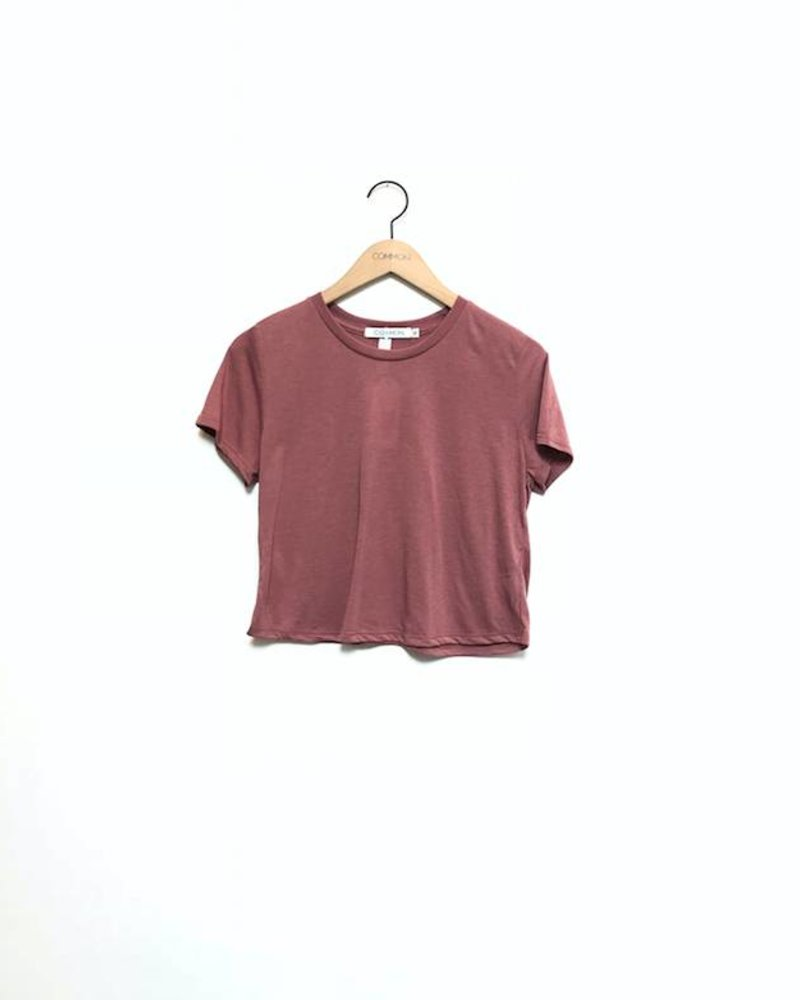 VAL CROPPED TEE MAUVE