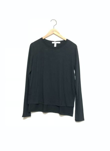 DIANNE LONG SLEEVE TEE BLK