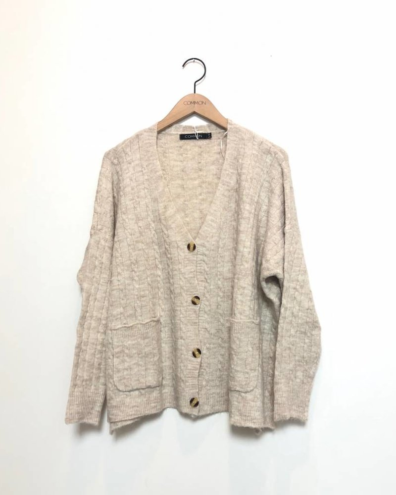 CAMILA BUTTON DOWN CARDIGAN OAT