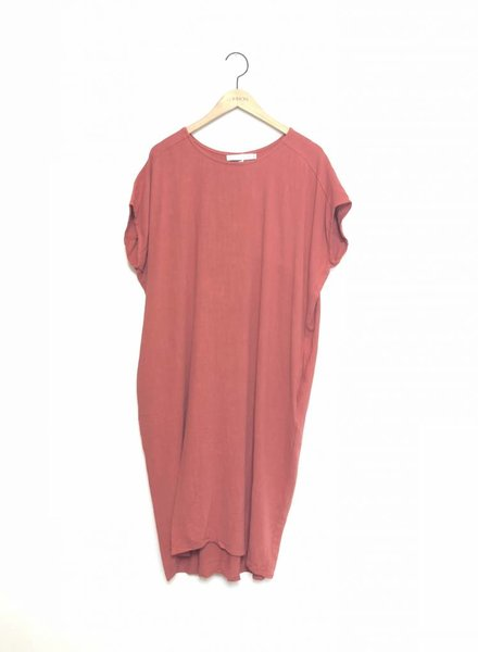 CHRISSY TUNIC DRESS RUST