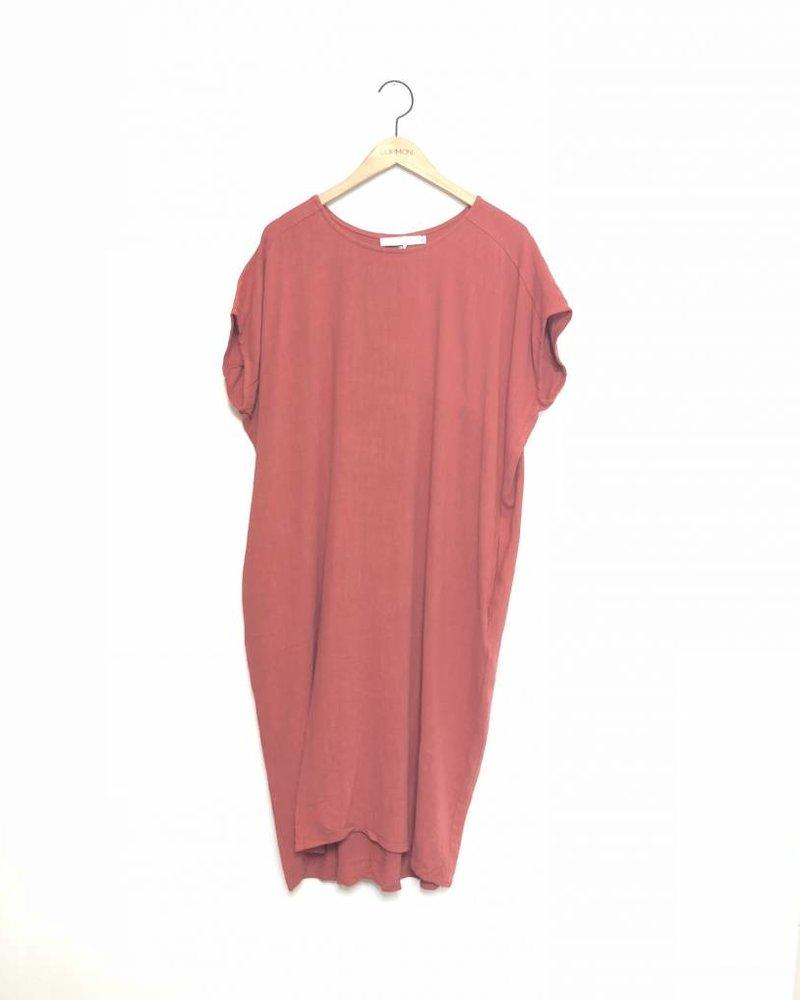 CHRISSY TUNIC DRESS RUST