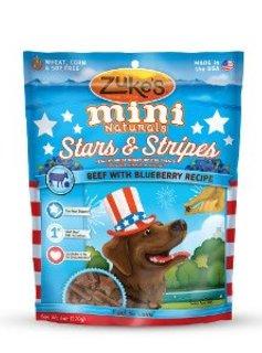 Zuke's Mini Stars & Stripes Beef/Blueberry 6 oz