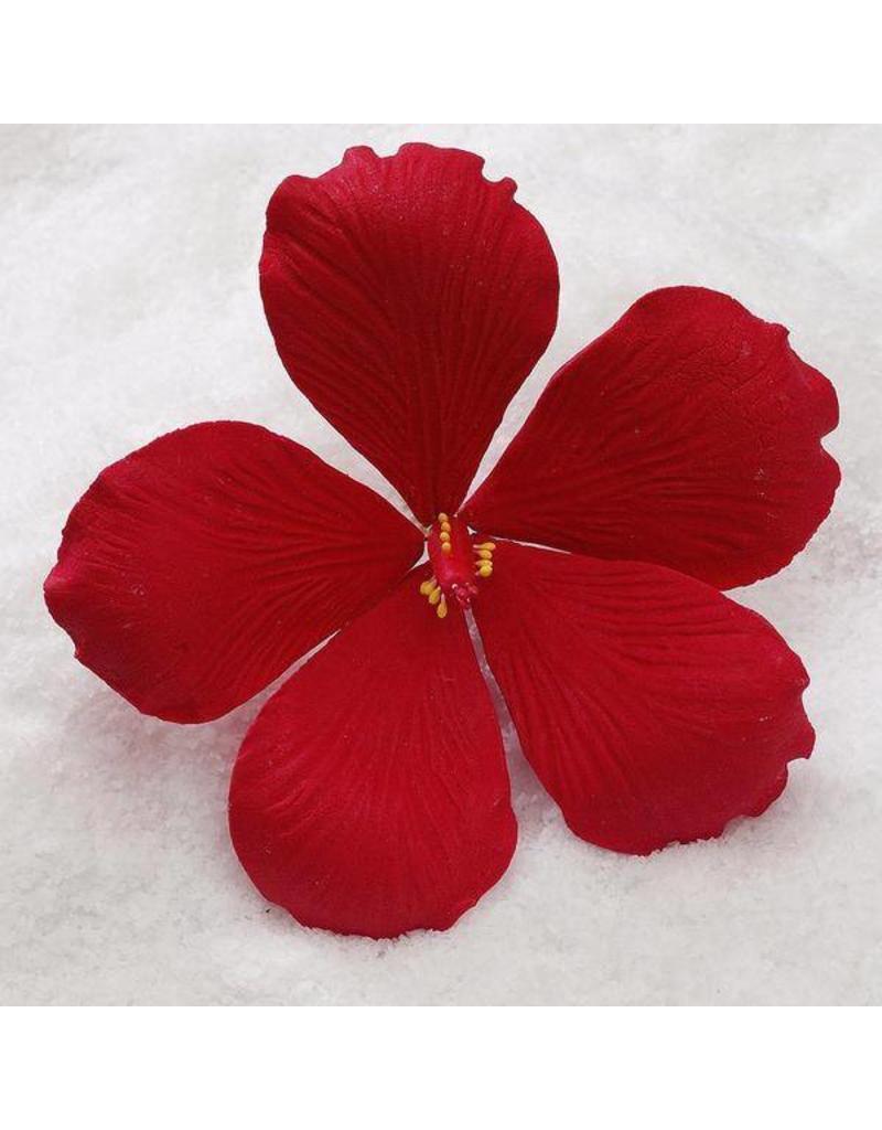 Sugar flower hib m red ecakesupply ecakesupply sugar flower medium hibiscus red izmirmasajfo