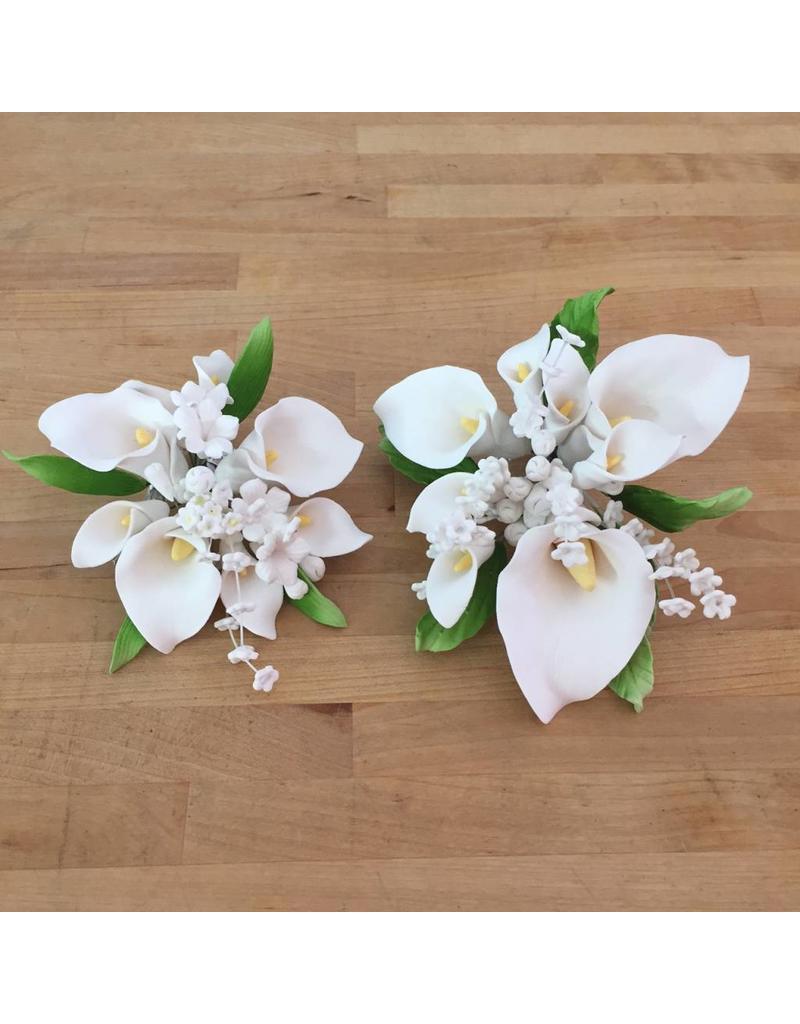 Calla lily topper small sugar flower ecakesupply calla lily topper small sugar flower izmirmasajfo
