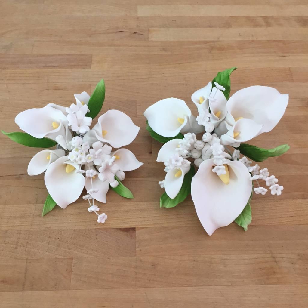Calla lily topper small sugar flower izmirmasajfo