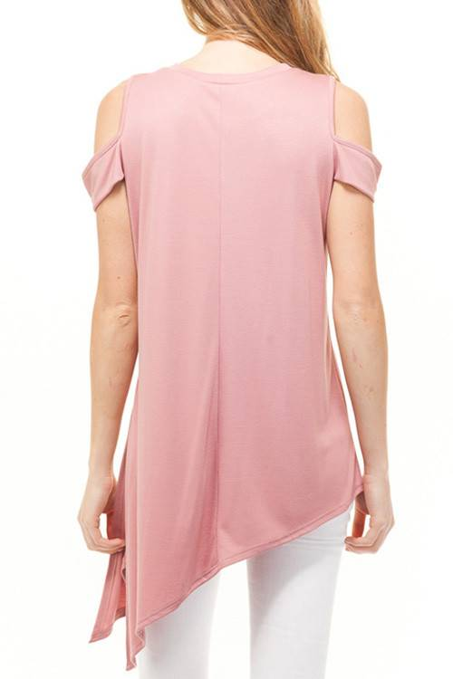 Make Me Blush Cold Shoulder Top