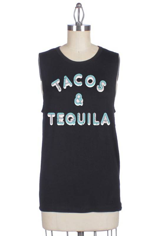 Tacos & TEQUILA Muscle Tee