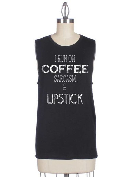 Coffee & Lipstick Muscle Tee