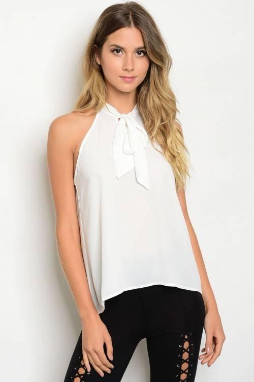 Shoptiques Nicole Neck Tie Top