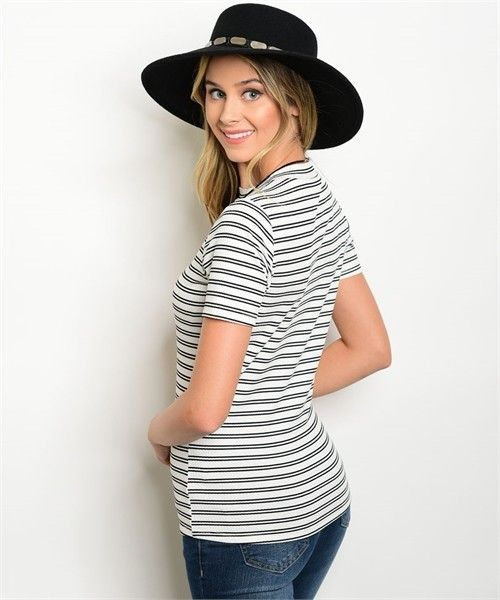 Shoptiques Seeing Double Striped Tee