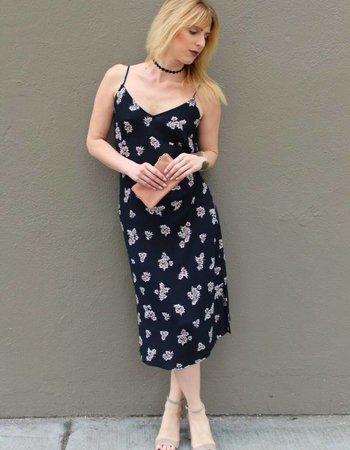 Shoptiques Dark Bloom Midi Dress