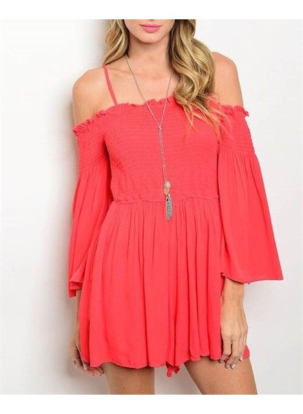 Shoptiques Isabella Cold Shoulder Romper