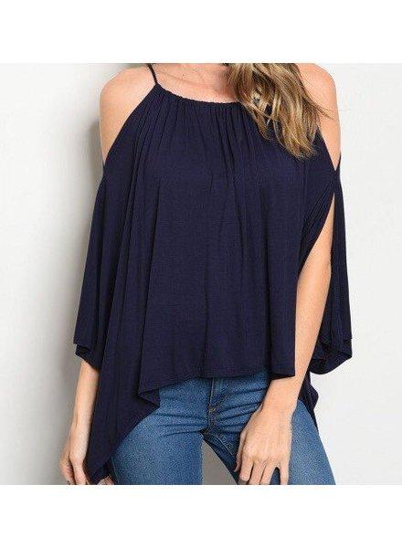 Shoptiques Alana Cold Shoulder Top