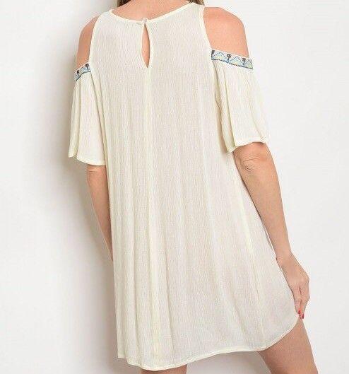 Shoptiques Michelle Tribal Trim Dress