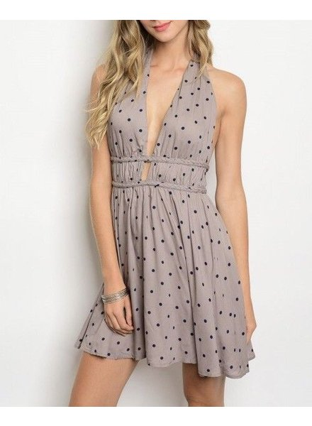 Shoptiques Pam Polka Dot Halter Dress