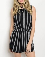 Shoptiques Lysette Striped Romper