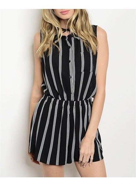 Shoptiques Lysette Striped Romper