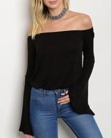 Shoptiques Sophia Bell Sleeve Top