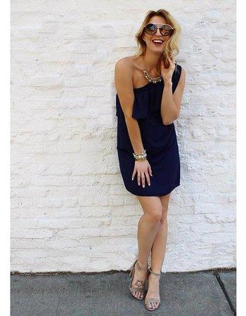 Shoptiques Ruffle One Shoulder Dress