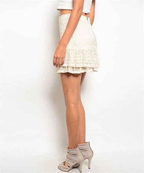 Shoptiques Bailey Crochet Ruffle Skirt