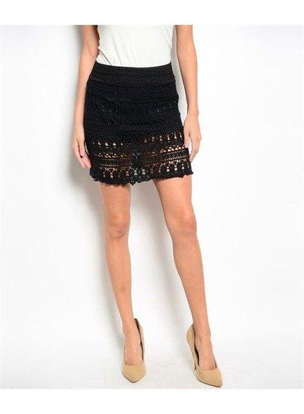 Shoptiques Rickie Crochet Skirt