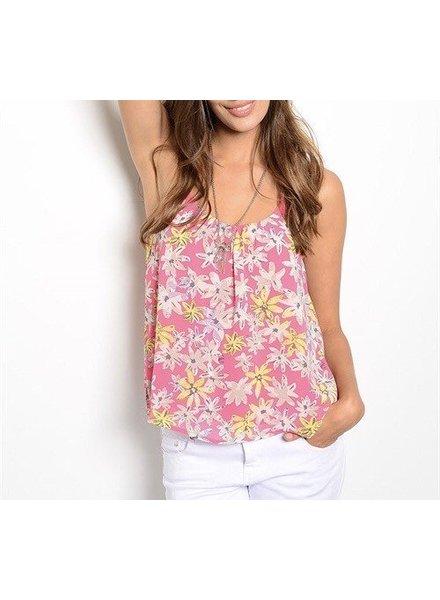 Shoptiques Morgan Pink Flower Top