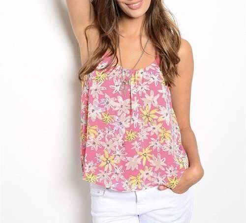 Shoptiques Morgan Pink Flower Top