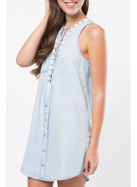 Shoptiques Abriella Denim Dress