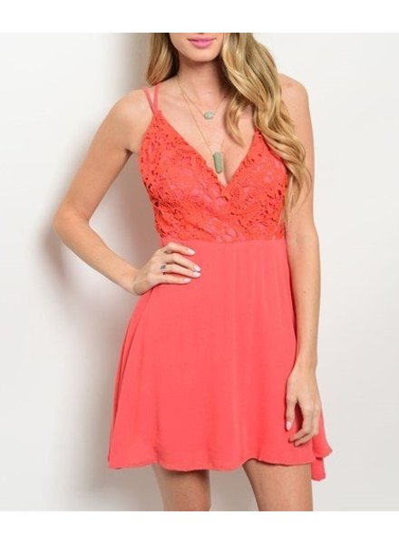 Shoptiques Cher Lace Bodice swing Dress