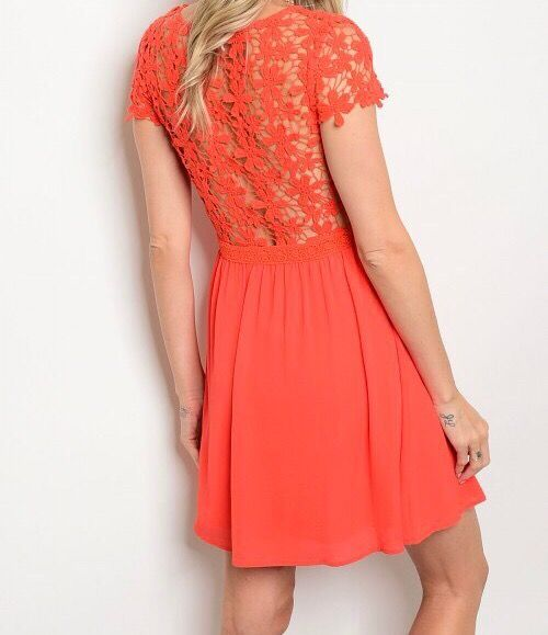 Shoptiques Flower Crochet Skater Dress