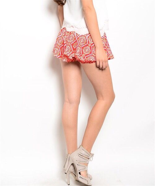 Shoptiques Tribal Print Shorts