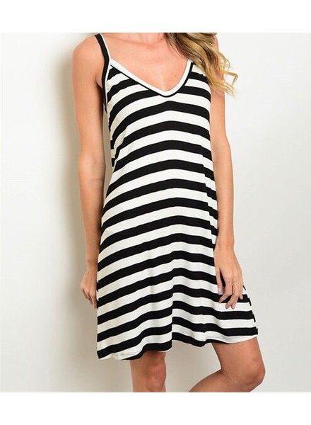 Shoptiques Low Back Striped Dress