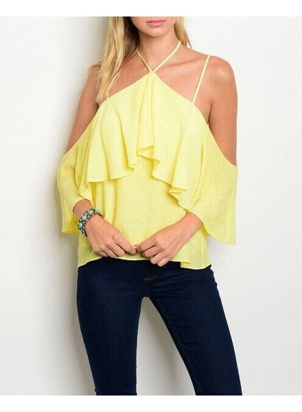 Shoptiques Cold Shoulder Summer Blouse