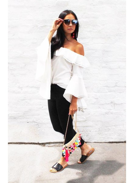 Shoptiques Miss Daisy Bell Sleeve Blouse