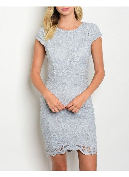 Shoptiques Cap Sleeve Lace Dress