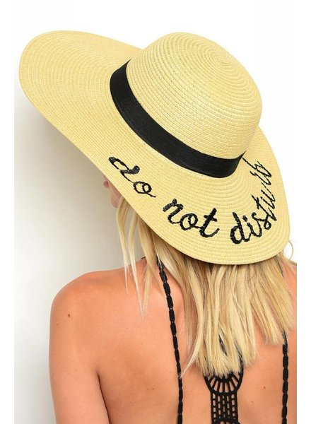 Shoptiques Do Not Disturb Beach Hat