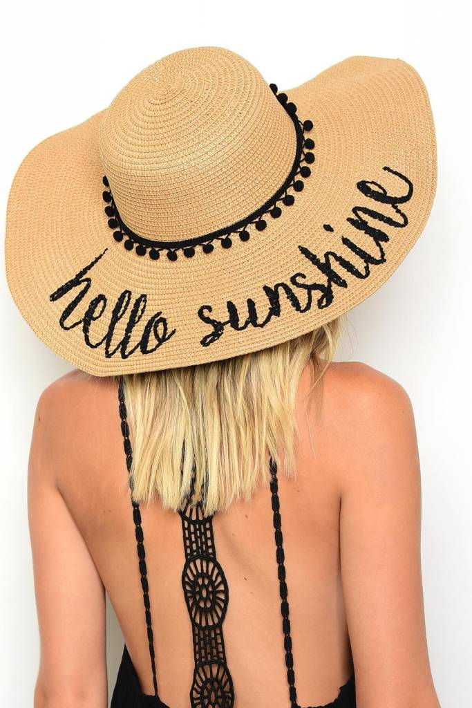 Shoptiques Hello Sunshine Beach Hat