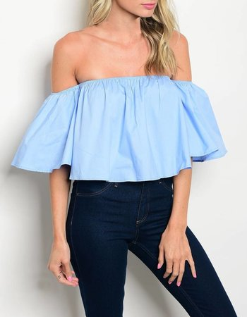 Shoptiques Oh So Chic Off Shoulder Top