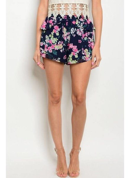Shoptiques Ruffled Floral Shorts
