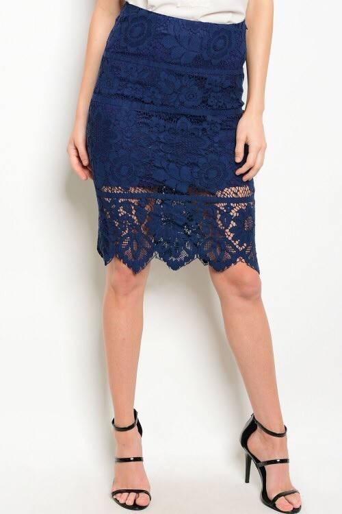 Shoptiques Lace Overlay Skirt