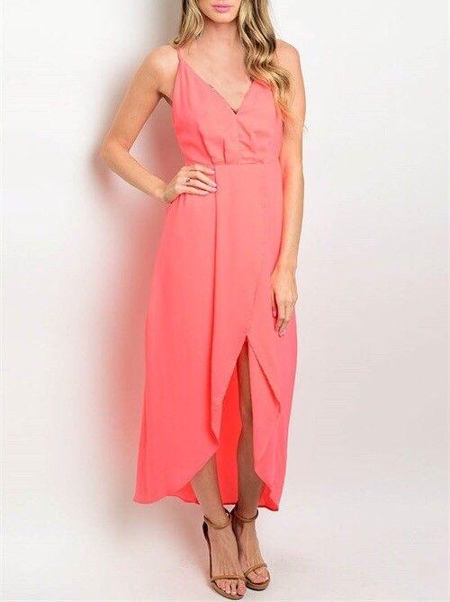 Shoptiques Neon Hi-Low Maxi Dress