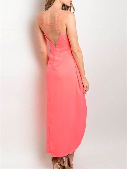 Shoptiques Neon Hi-Low Maxi Dress