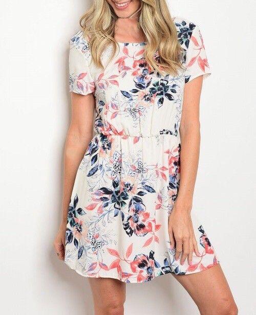 Shoptiques Wrap Back Floral Dress