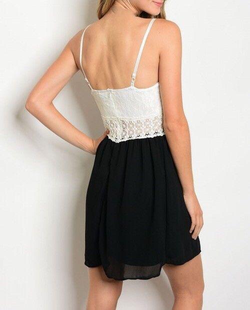Shoptiques Colorblock Lace Overlay Dress