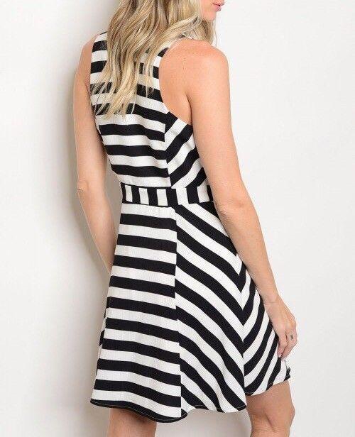 Shoptiques Block Stripe Skater Dress