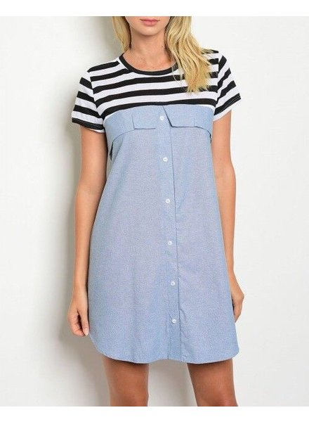 Shoptiques Striped Top Twofer Dress